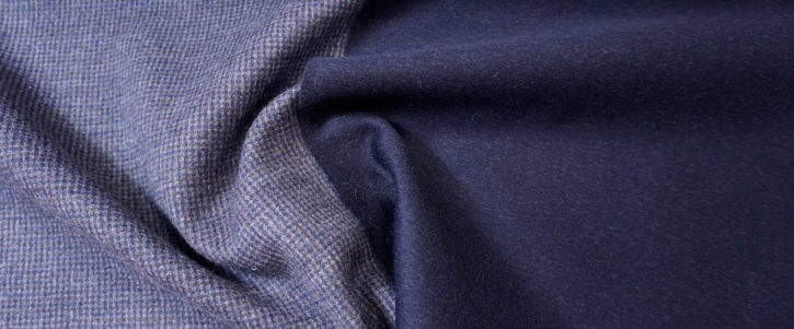 Kaschmir Double Face - dunkelblau