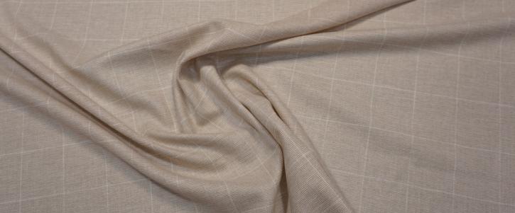 leichter Kaschmir - beige mit weiß