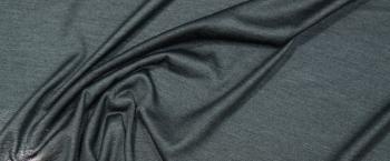 Kaschmirjersey - schwarzgrün