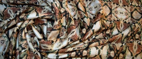 Viskose-Seidenmischung - animal print