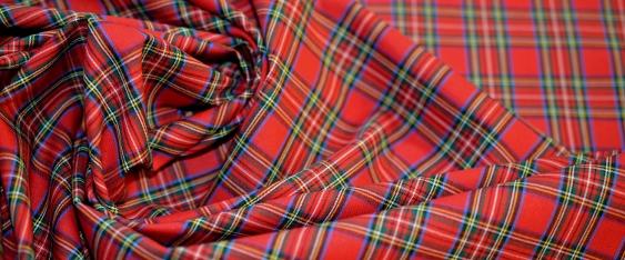 feine Blusen- und Hemdenqualität - Tartan