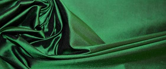 Rest Dupion - smaragdgrün