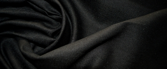 blickdichtes Leinen - schwarz