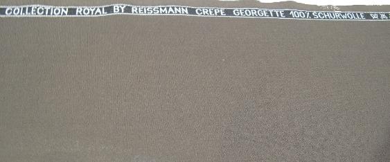 Crépe Georgette - Reißmann, schokobraun