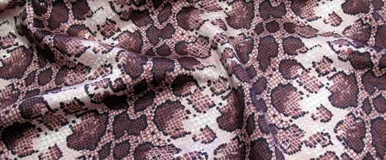Baumwolle/Synthetik - Schlangenledermotiv