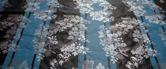 Blumenmotiv, türkis-anthrazit