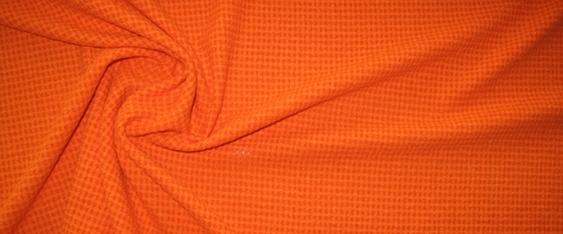 Schurwolle Piqué orange