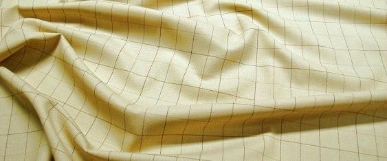 Schurwolle, kariertes Netz gelb/beige