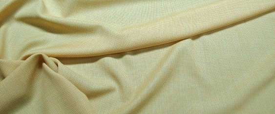 Schurwolle - gelb/weiß