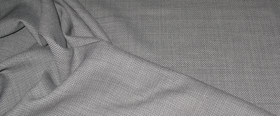 Schurwolle - grau/weiß