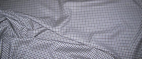 Schurwolle - blau/schwarz/weiß