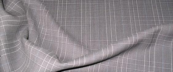 Schurwolle, grau - weiß