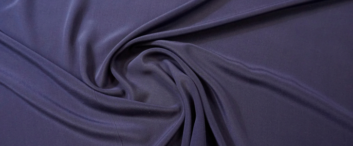 Seidencrepe - tintenblau