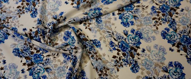 Seide - blaue Blumen