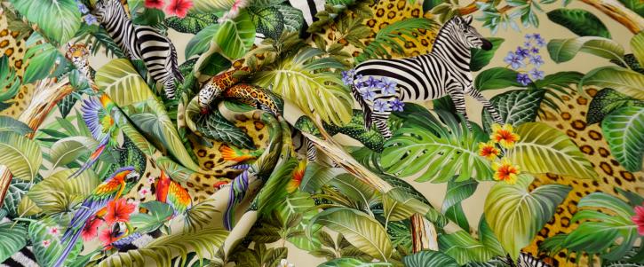 Seide - Zebra und Leo