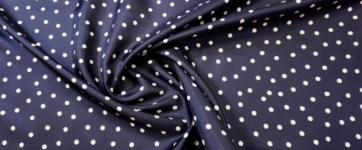 Seidentwill - Punkte auf dunkelblau