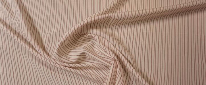 Seide - rote Streifen auf weiß