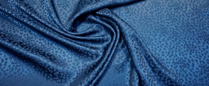 Seidenjacquard - tintenblau