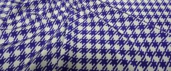 Seide - Hahnentritt blau/lila