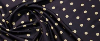 Twill - schwarz mit gelben Punkten