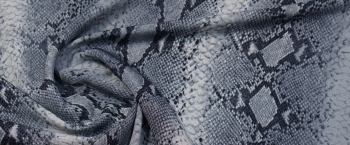 schwere Seide - Schlangenprint