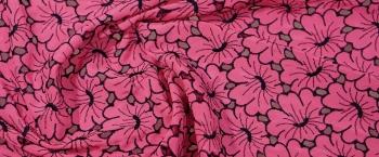 Madeira-Stickerei - pink mit schwarz