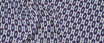 Boss - ecru mit blauem Muster