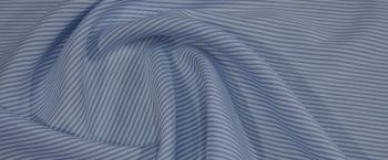 Seide - weiß mit blau