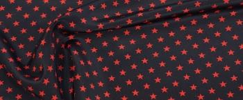 Seide - rote Sterne