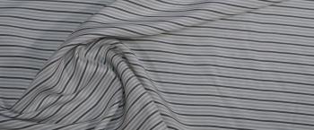 Seide - graue Streifen