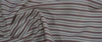 Seide - weiß mit Streifen
