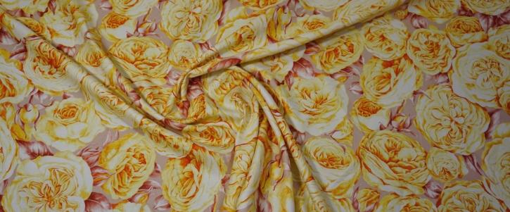 Seide - gelbe Blumen