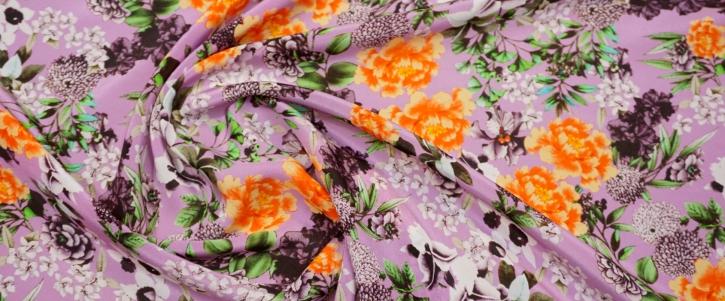 Seidencrepe - florales Muster