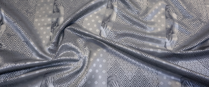 Seidenjacquard - geometrisch