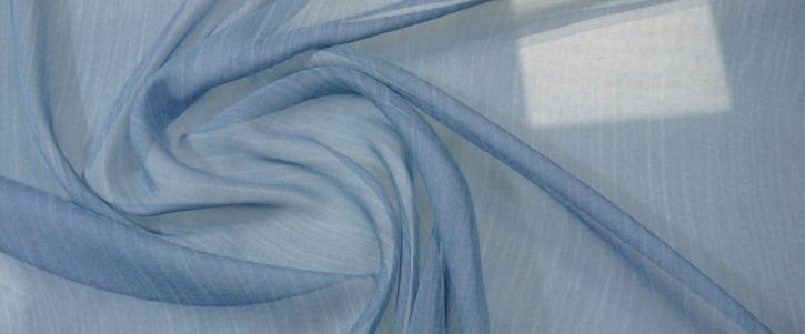 Seidenchiffon - graublau