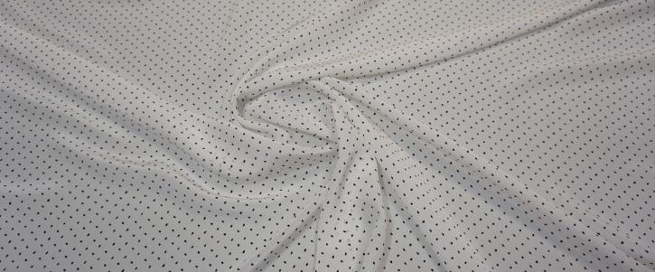 Seidencrepe - weiß/schwarz