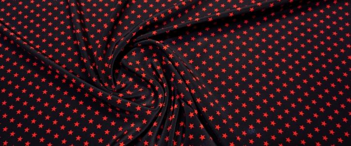 Seidencrepe - rote Sterne