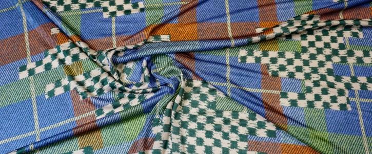 feiner Seidenjersey - geometrisches Muster