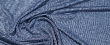 Seidenjersey - blau gestreift