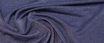 Seidenjersey - blaugrau/silber