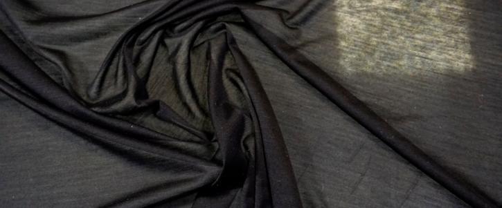 feiner Seidenjersey - schwarz