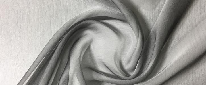 changierender Chiffon - grau/weiß