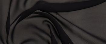 Seidenchiffon - schwarz