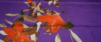Chiffonrapport - große Blumen