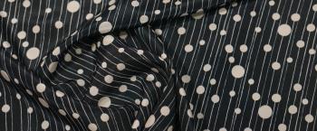 dünne Seide - dunkelblau/weiß