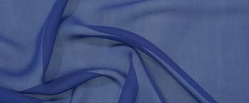 Seidenchiffon - tintenblau