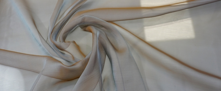 Seidenchiffon - grau-braun
