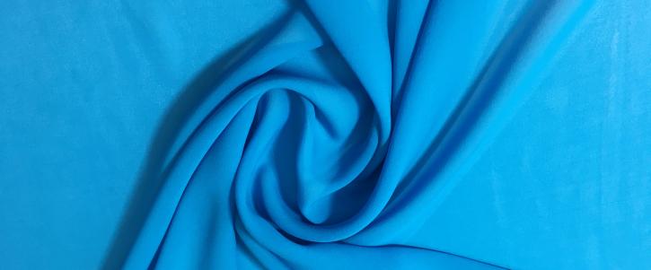 Crepe Chiffon - türkisblau