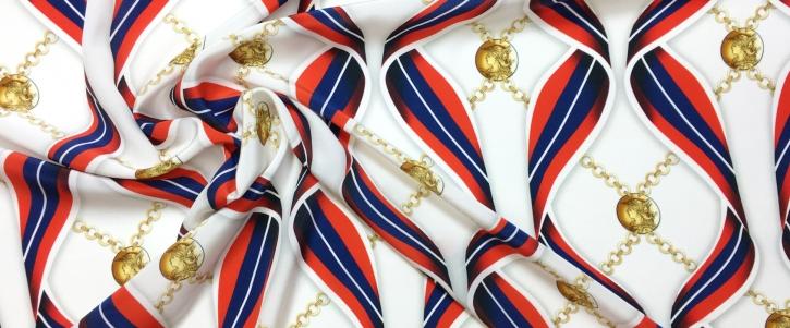 Seide - Bändern und Münzen