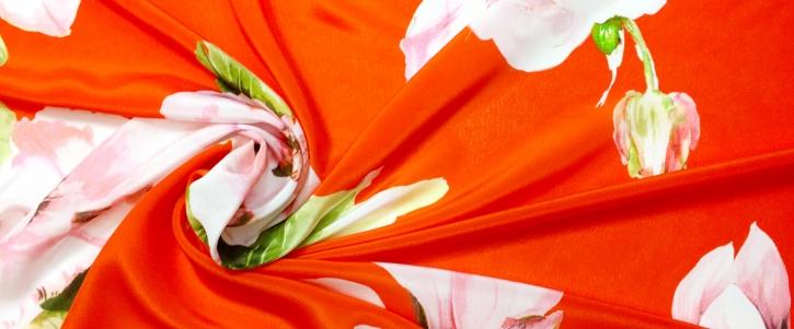 Crepe de Chine - große Blüten